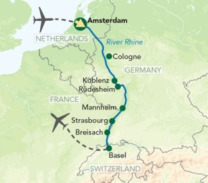 Tour Map Mysteries of the Rhine